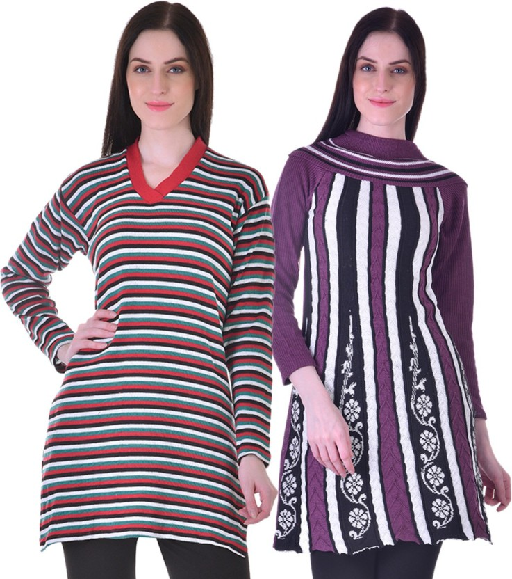 Christy World Casual Printed, Striped Women