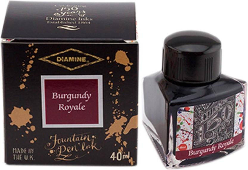 Diamine 40ml Burgundy Royale Fountain Pen Ink - 150 Year Anniversary Edition Ink Bottle