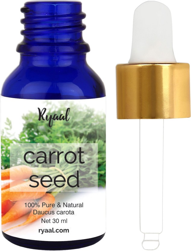 Ryaal Carrot Seed Oil - 30ML- 100% Pure Organic Unrefined Cold Pressed Moisturizer for Hair Skin and Nails