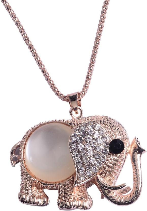 Vidhi Jewels Best Friends Ever 18K Yellow Gold Cubic Zirconia Alloy, Brass Pendant