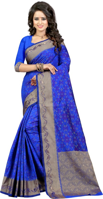 The Fashion Outlets Self Design, Plain Bandhej Cotton, Silk Saree