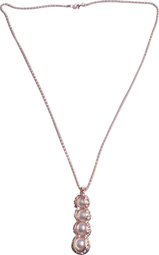 Fully pendant chain for girls 18K Rose Gold Diamond, Cubic Zirconia Rose Gold, Alloy, Crystal Pendant Set