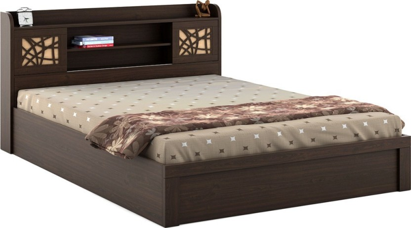 Spacewood Mayflower Engineered Wood King Bed With Storage
