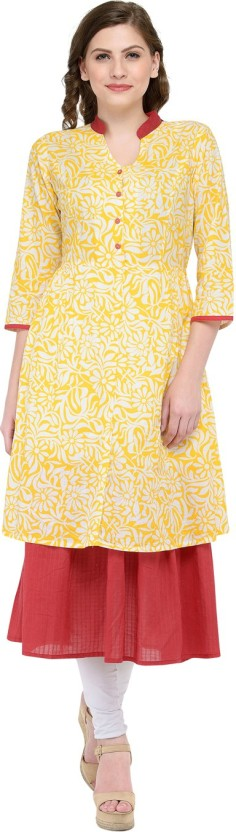 ZOAE Printed Women A-line Kurta