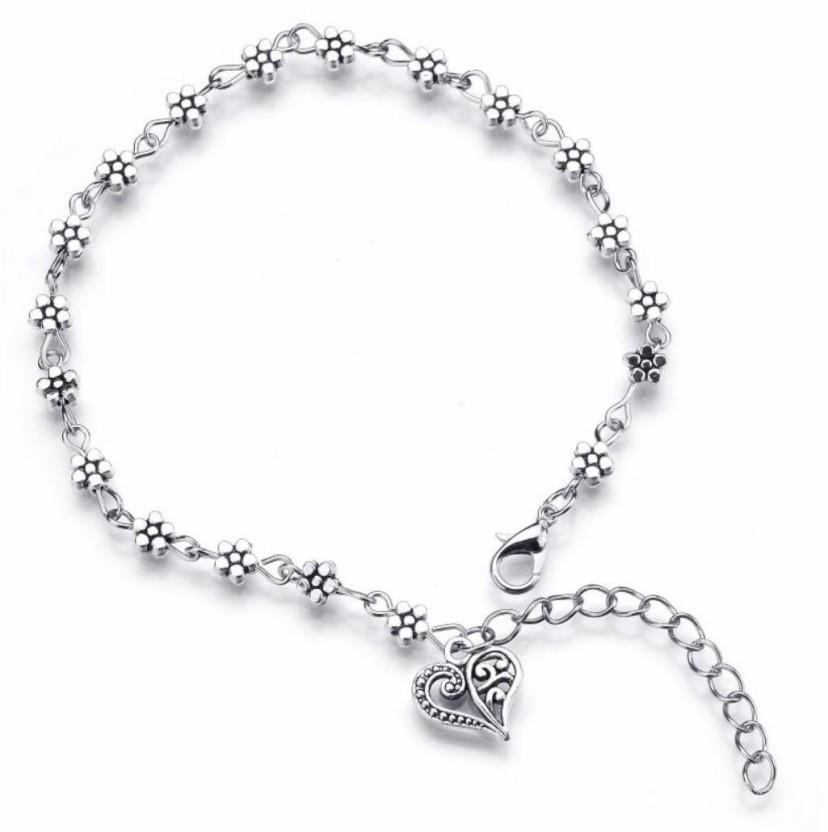 DCJEWELS Elegant & Simple Retro Silver Anklet For Women & Girls Sterling Silver Anklet