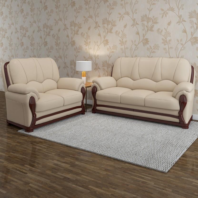 Vintage Ivoria Fabric 3 + 2 MAHOGANY Sofa Set