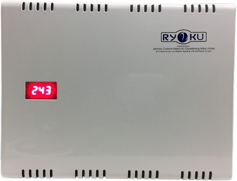Hitachi With Digital Voltage LED DIsplay For A/C-RYOKU ( A HITACHI Product) 4kv 3yrs REPLACEMENT Warranty Double Booster Voltage Stabilizer