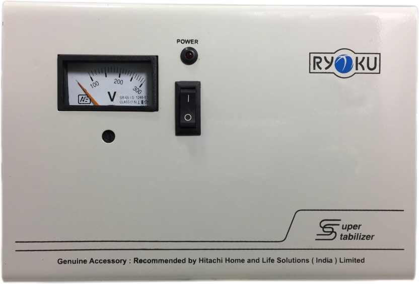 Hitachi With Volt Meter for A/C-RYOKU (A HITACHI Product) 4kv 3yrs warranty Voltage Stabilizer