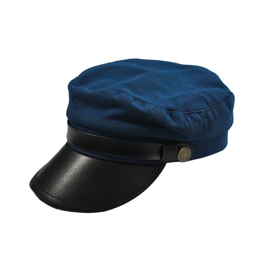 Friendskart Solid Solid Self Design Leather Baseball Cap In Blue Colour For Mens And Womens Cap Cap Cap