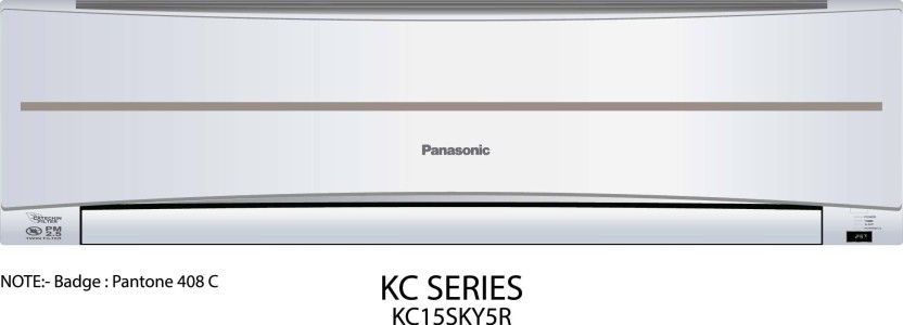 Panasonic 1.2 Ton 5 Star BEE Rating 2017 Split AC  - White