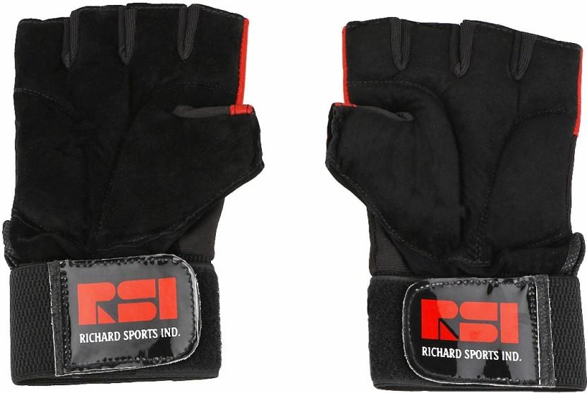 Richard Century Gym & Fitness Gloves (Men, Red, Black)