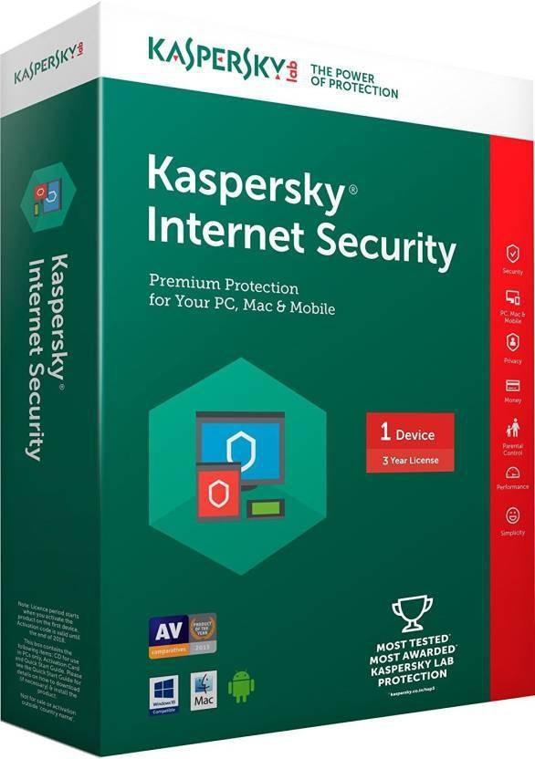 KASPERSKY Internet Security 1 Pc 3 year (1cd,1095days valid serial key )