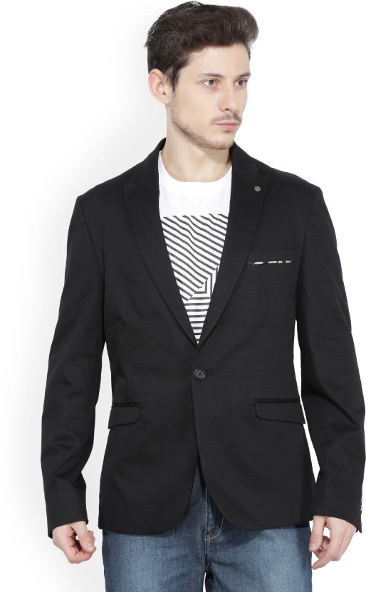V.Dot by Van Heusen Solid Single Breasted Casual Men