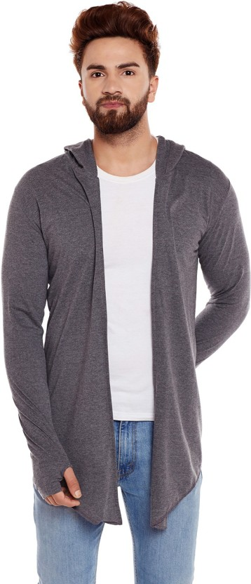 Chill Winston Men No Closure Solid Cardigan