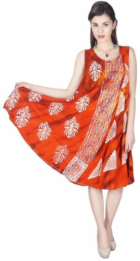Kids Mandi Women Gathered Brown Dress