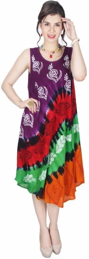 Kids Mandi Women Gathered Multicolor Dress