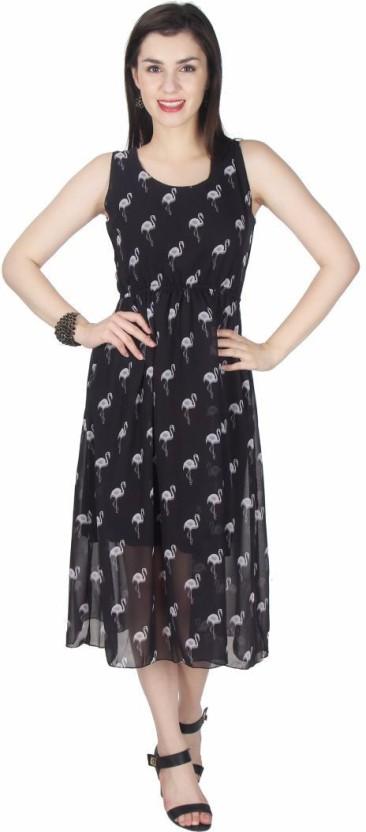Kids Mandi Women Empire Waist Black Dress