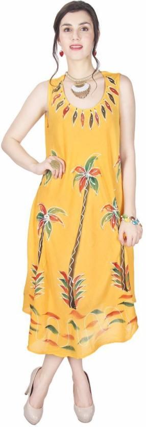 Kids Mandi Women Gathered Yellow Dress