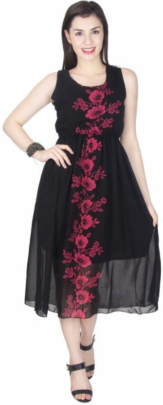 Kids Mandi Women Empire Waist Pink Dress