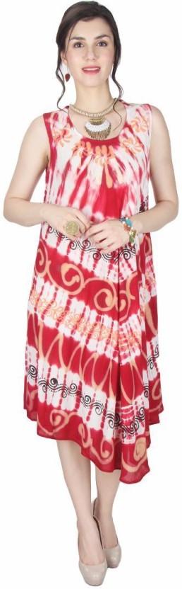 Kids Mandi Women Gathered Red Dress