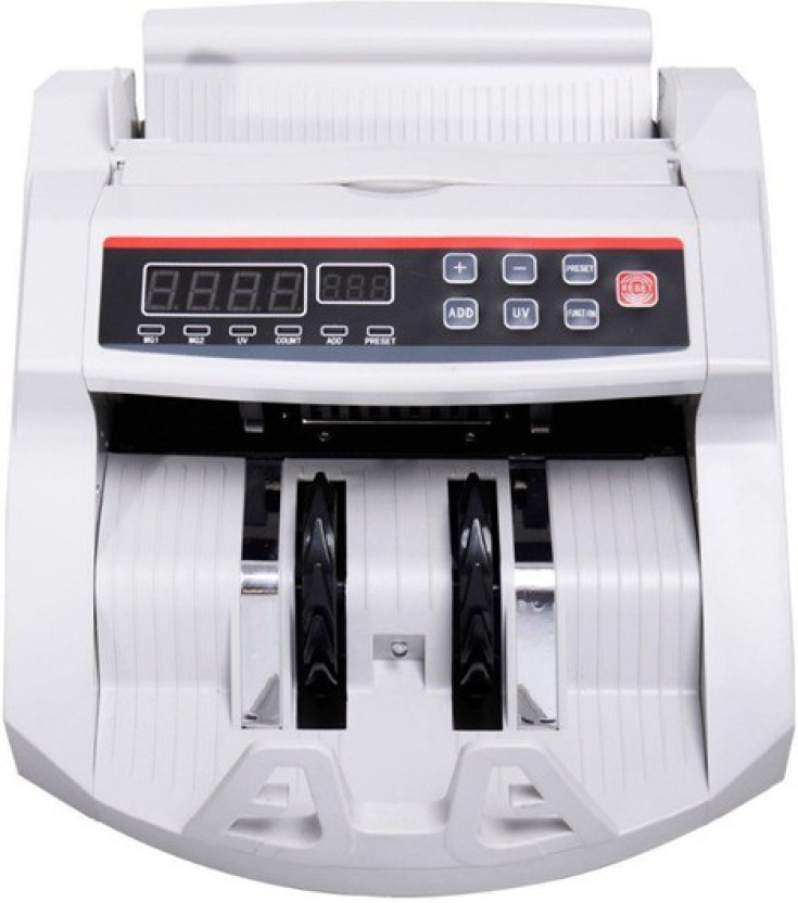 MANIA ELECTRO LCD Display Money Bill Counter Counting Machine Counterfeit Detector UV & MG Cash Bank Detector Note Counting Machine