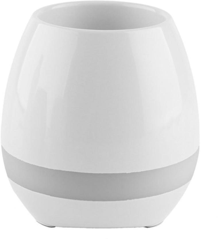 Wonder World ® Mini Sensor Flower Pot Bluetooth Speaker,LED Colorful Night Light Touch Music Plant Lamp Rechargeable Wireless Plastic Vase