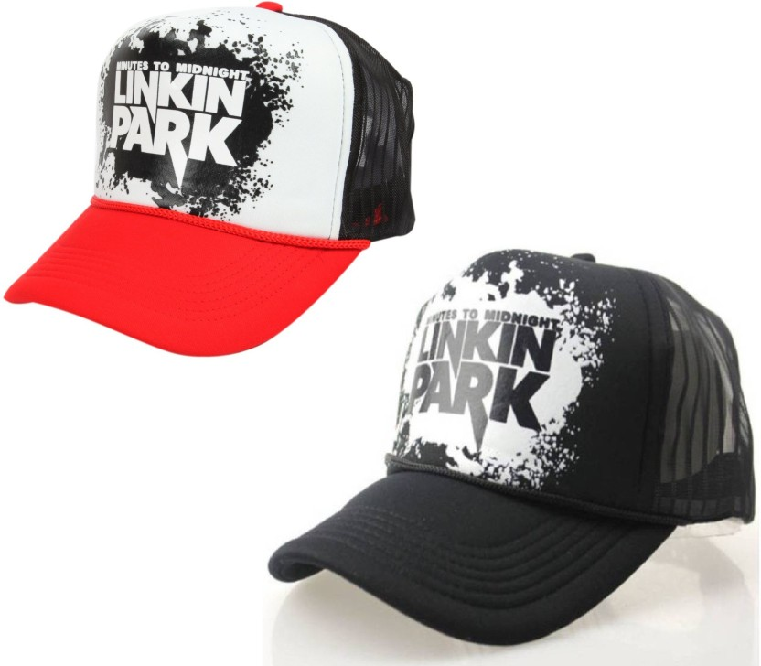 Empower Earth Printed, Self Design, Graphic Print FUNKY, LINKIN PARK, HALF NET Cap