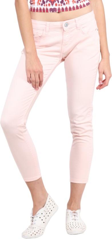 Jealous Slim Women Pink Jeans