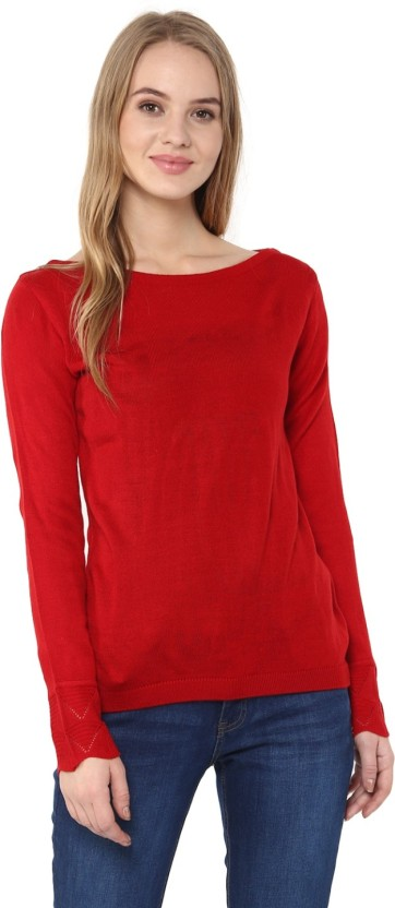 Cayman Solid Round Neck Casual Women