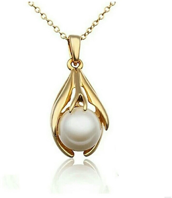 fashion9mart Fashion 9 18k Rhodium Plated Antique Gold pendent for girls 18K Rose Gold Crystal Alloy Pendant