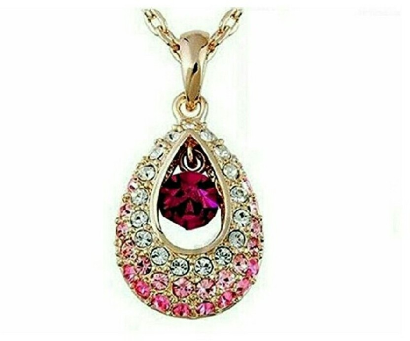 fashion9mart Fashion 9 18 k Rose Gold Plated Antique Multicolour Pendant For Women 18K Rose Gold Crystal Alloy Pendant