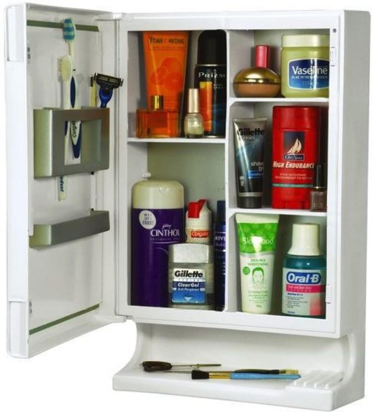 FINE FIESTA Fine Fiesta Fine Look Bathroom Cabinet Plastic Wall Shelf