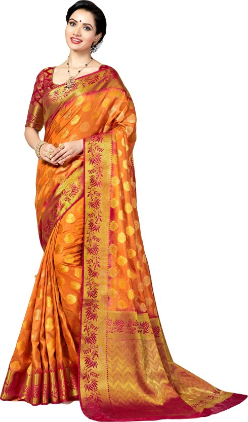 M.S.Retail Self Design Bollywood Silk Saree