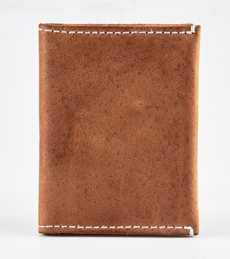 iconicstyle Men Brown Genuine Leather Card Holder
