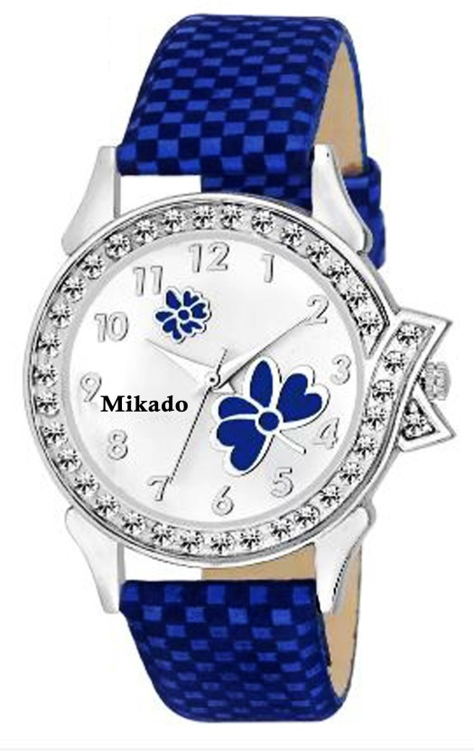 Mikado New breed blue 01 Butterfly casual analog watch for women and girls with 1 year warranty Watch  - For Girls