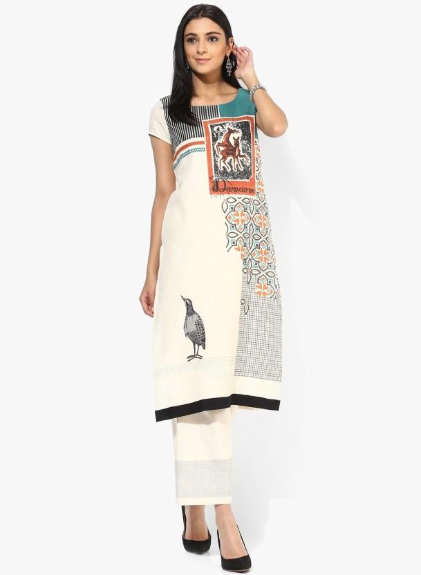 Saubhagyawati Fashions Animal Print Women Straight Kurta