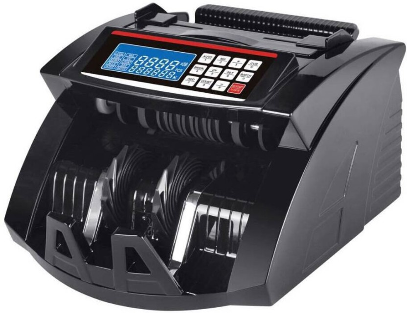 swaggers top 10 Black LCD pro fake note counting machine (Detects Cut Note) Note Counting Machine