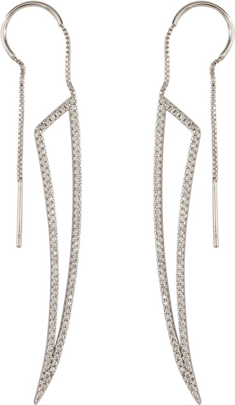 Spargz Antique Petals Ear Cuff For Women Diamond Brass Cuff Earring