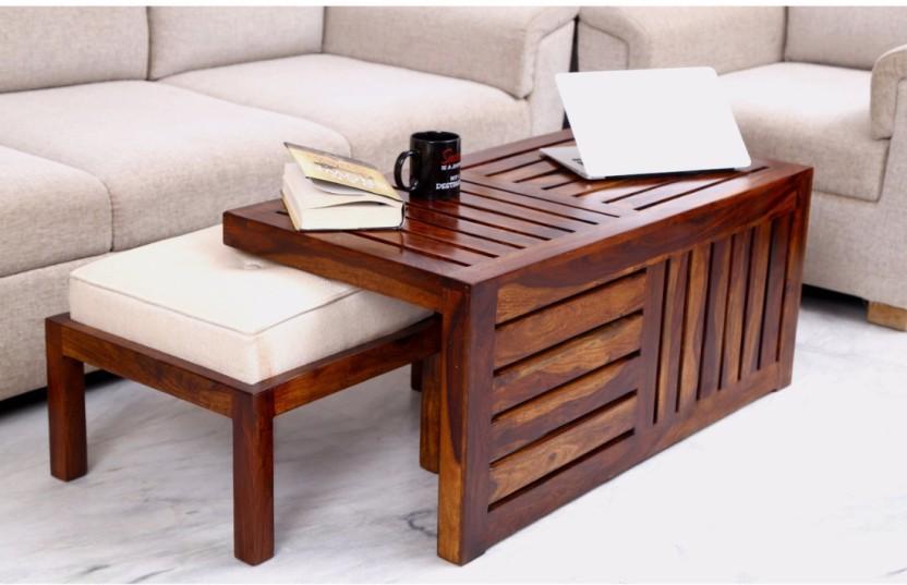 Home Edge Sienna Solid Wood Coffee Table