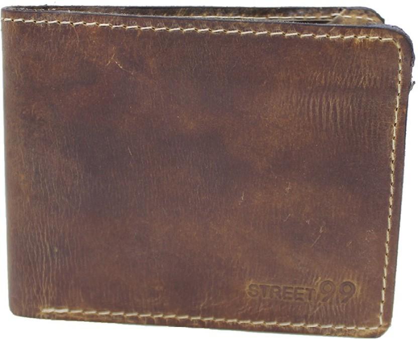 Hydee Men Brown Genuine Leather Card Holder