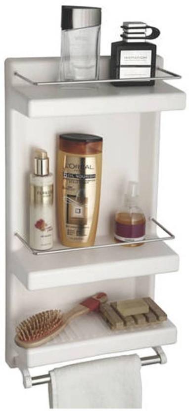 FINE FIESTA Fine Fiesta Coastal Bathroom Cabinet Plastic Wall Shelf