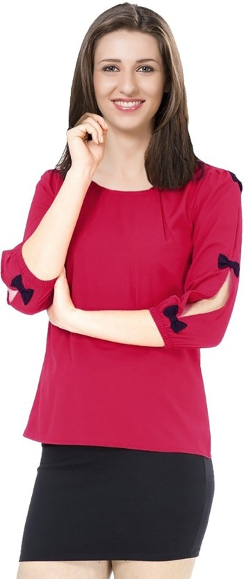 Ishin Party 3/4th Sleeve Solid Women