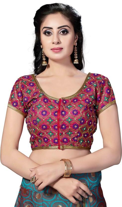 Saree Swarg Round Neck Women Stitched Blouse