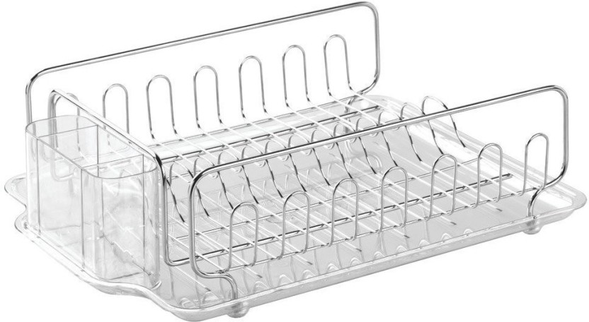 Evana Utensil Drying Rack with Tray Stainless Steel Kitchen Rack