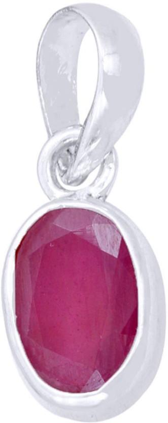 Kataria Jewellers 3.87 Carat 4.25 Ratti Natural Ruby Manik Asht Dhatu Metal Pendant