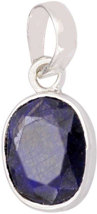 Kataria Jewellers 3.87 Carat 4.25 Ratti Natural Blue Sapphire Neelam Panch Dhatu Metal Pendant