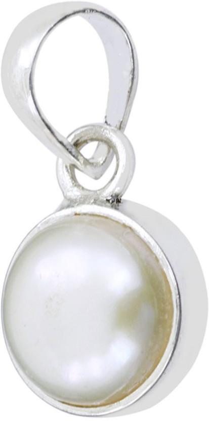 Kataria Jewellers 7.51 Carat 8.25 Ratti Natural Pearl Moti Panch Dhatu Metal Pendant