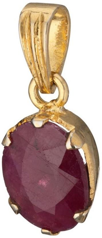 Kataria Jewellers 4.78 Carat 5.25 Ratti Natural Ruby Manik Panch Dhatu Metal Pendant