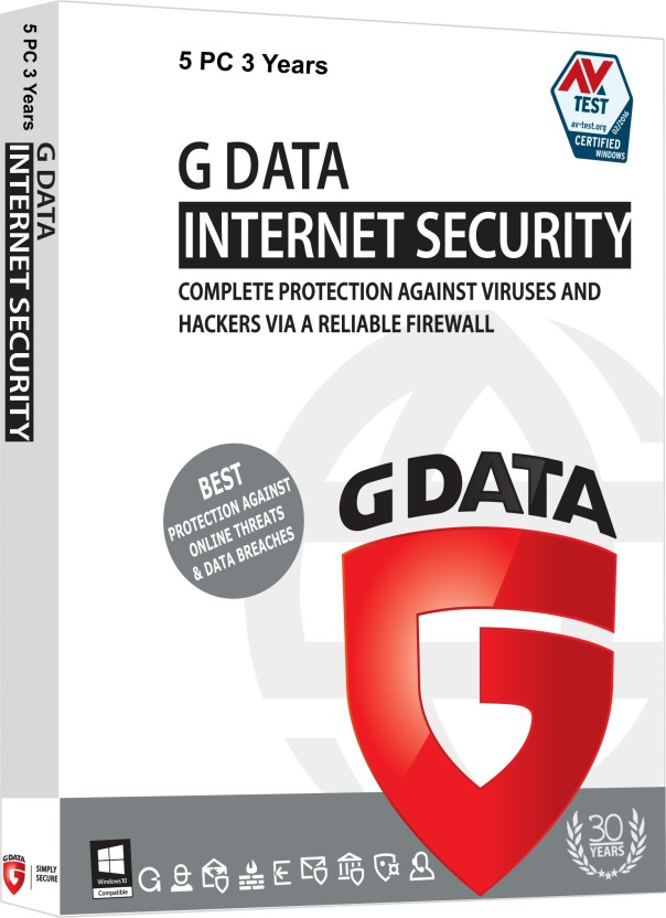 G Data Internet Security 5 Users 3 Years