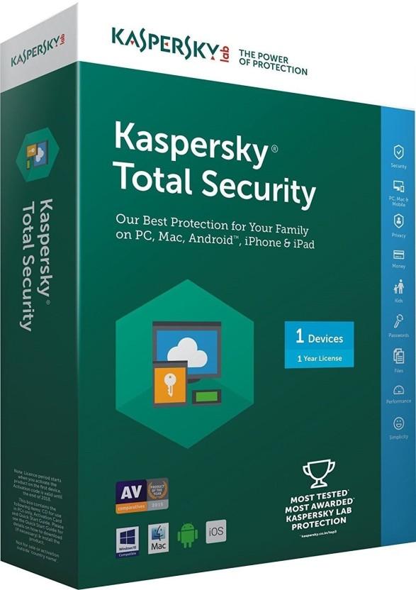 KASPERSKY Kaspersky Total Security - 1 User, 1 Year (CD) 2017 Latest Version [DVD-ROM]